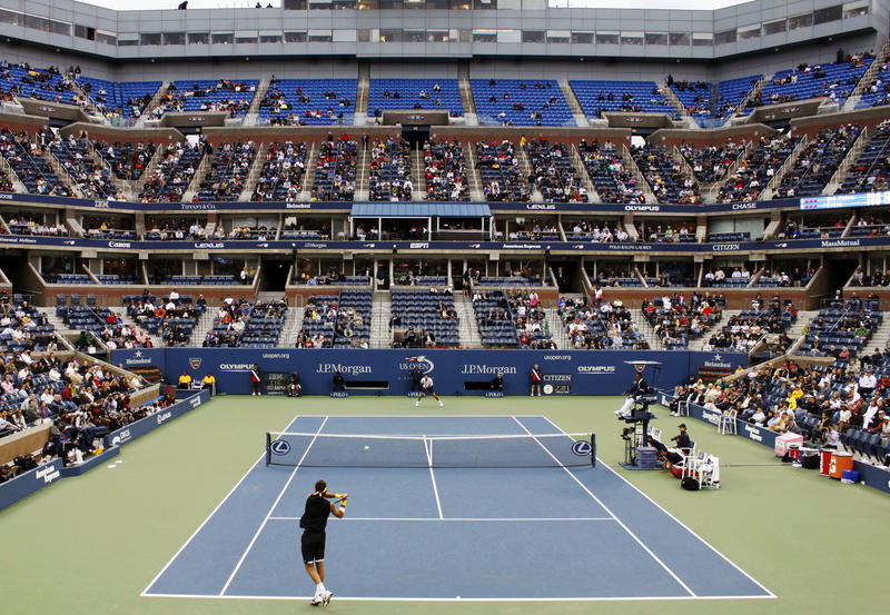 符合开放网球我们 免版税库存图片