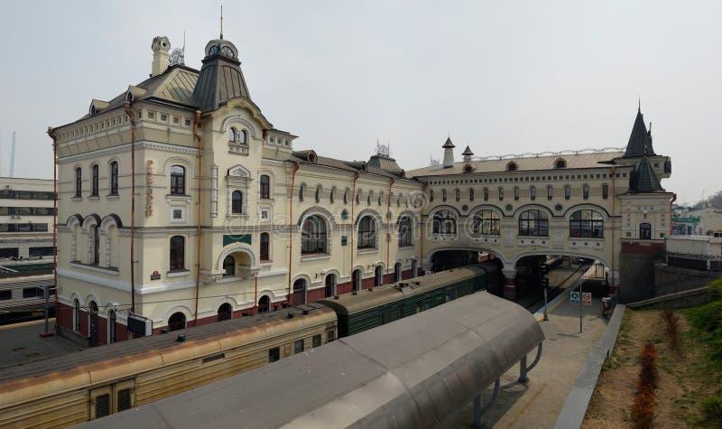 符拉迪沃斯托克火车站,俄罗斯 库存照片