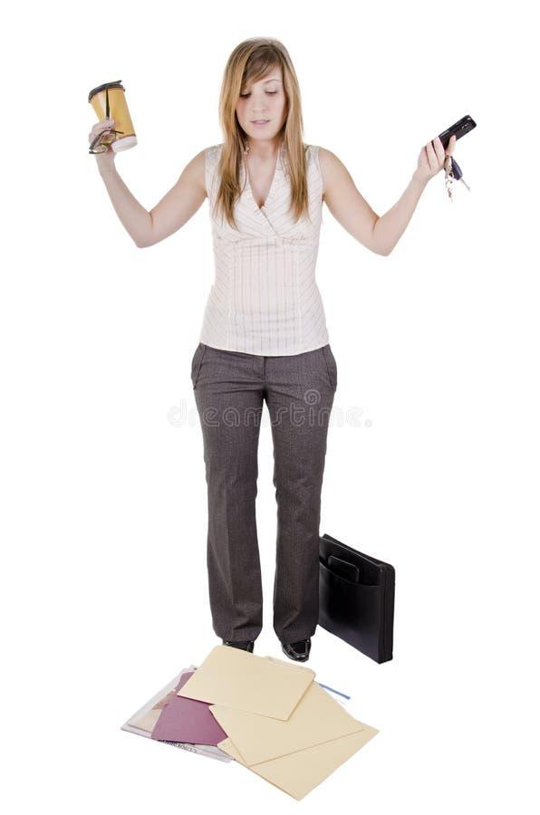 笨拙的女实业家 库存照片
