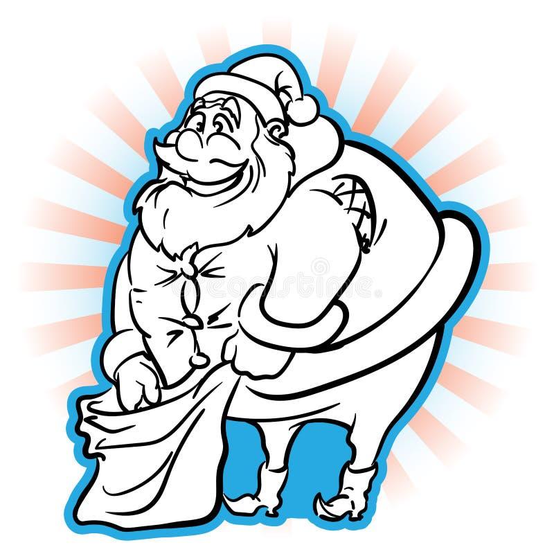 笨拙的肥胖圣诞老人 皇族释放例证