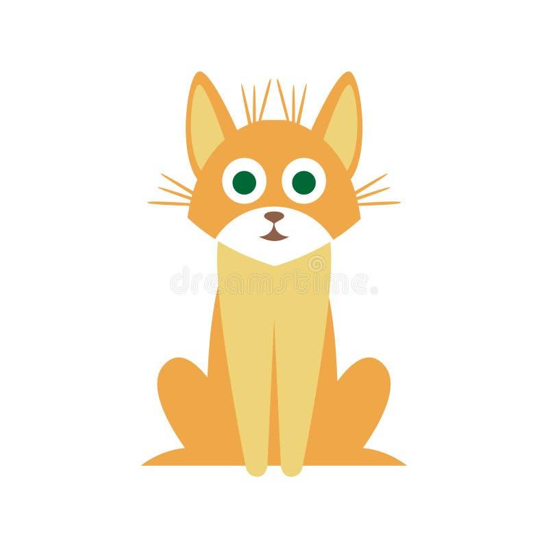 笨蛋猫原始动画片例证 向量例证