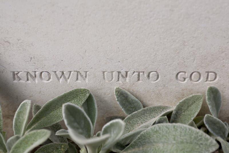 第一个世界大战无名战士的坟墓 免版税库存图片