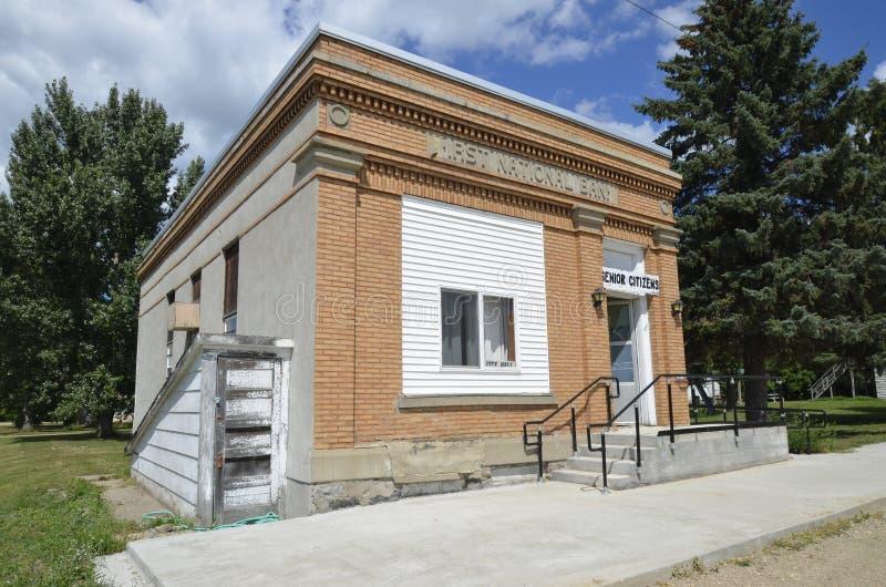 第一个国家银行大厦离子阿丽斯,北达科他 库存图片