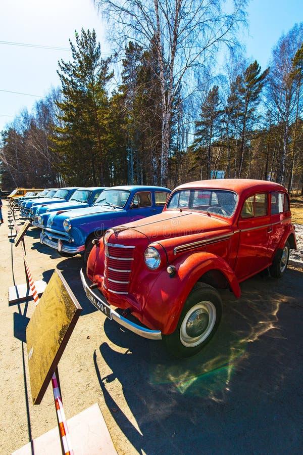 第一个小组的苏联汽车小类Moskvich 401 免版税库存照片
