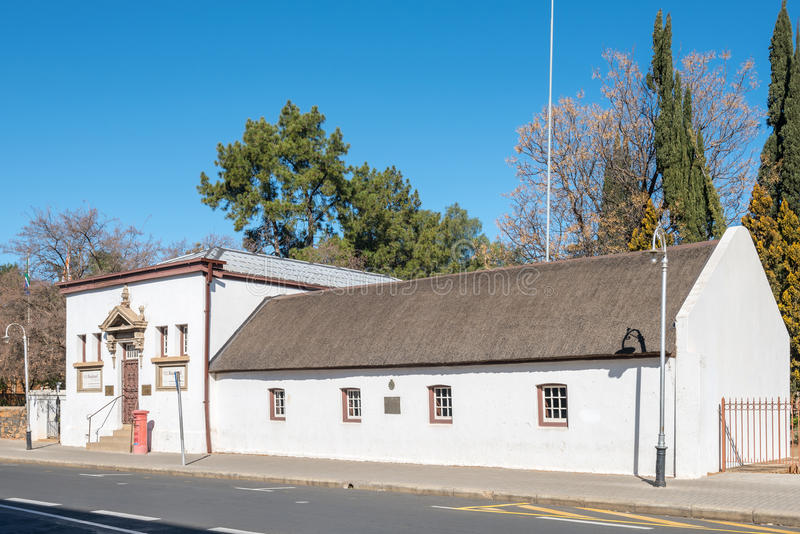 第一个Raadsaal博物馆在布隆方丹 图库摄影