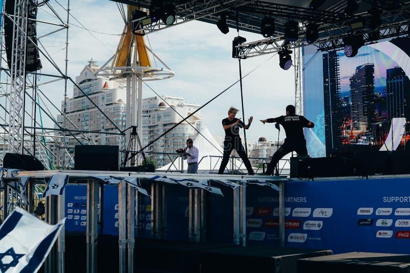 第一天第2场欧洲比赛 体育主要爱好者区域宫殿,米斯克 免版税图库摄影