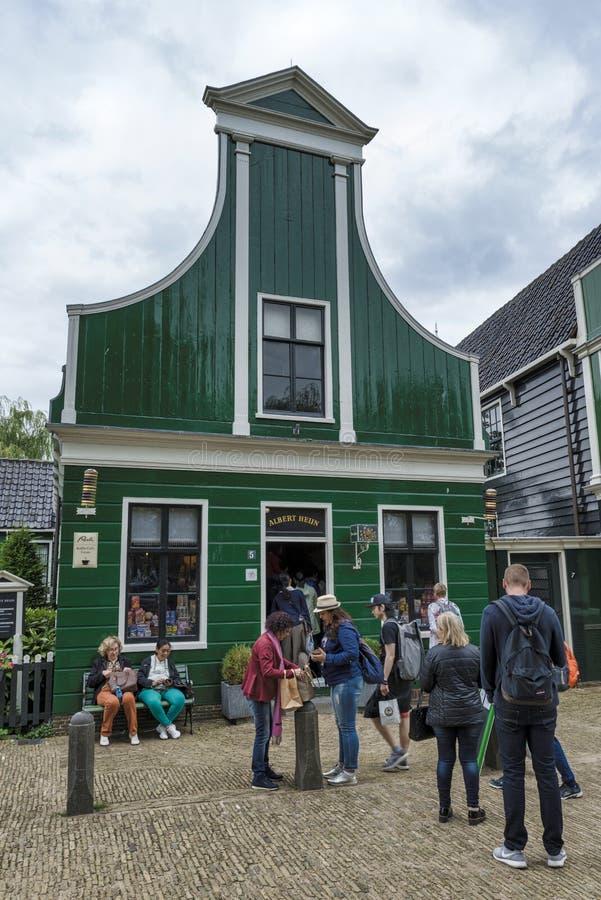 第一家阿尔伯特heijn商店在荷兰 免版税库存图片