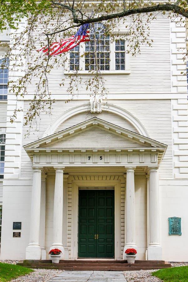 第一座施洗约翰教堂,上帝, RI 免版税库存照片