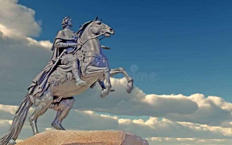 第一座纪念碑彼得 库存例证