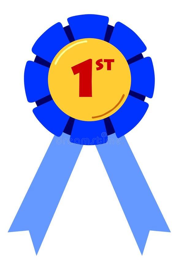 Download 第一条安置的丝带 库存例证. 插画 包括有 奖牌, 确定, 胜利, 动画片, 首先, 光栅, 安置, 红色, 蓝色 - 187147