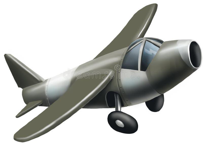 第一架喷气机飞机 免版税库存照片