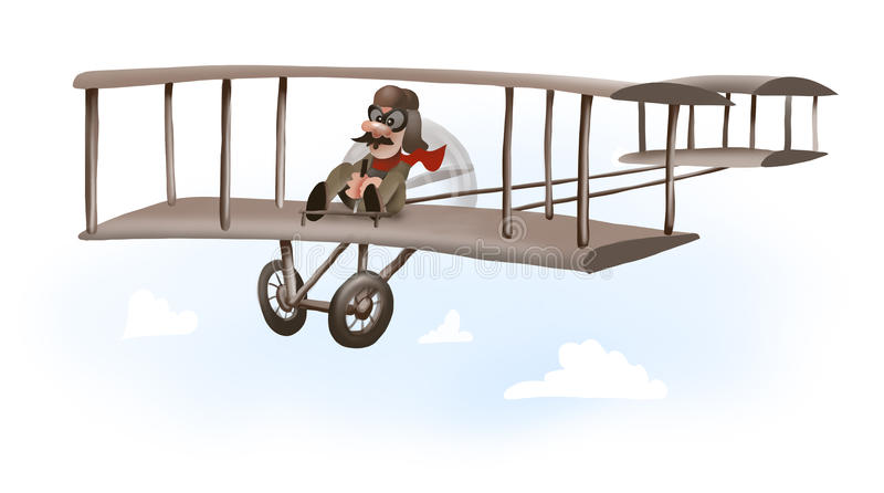 第一架飞机 库存图片
