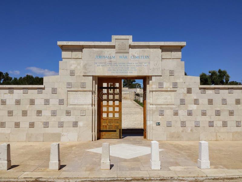 第一次世界大战公墓耶路撒冷 免版税图库摄影