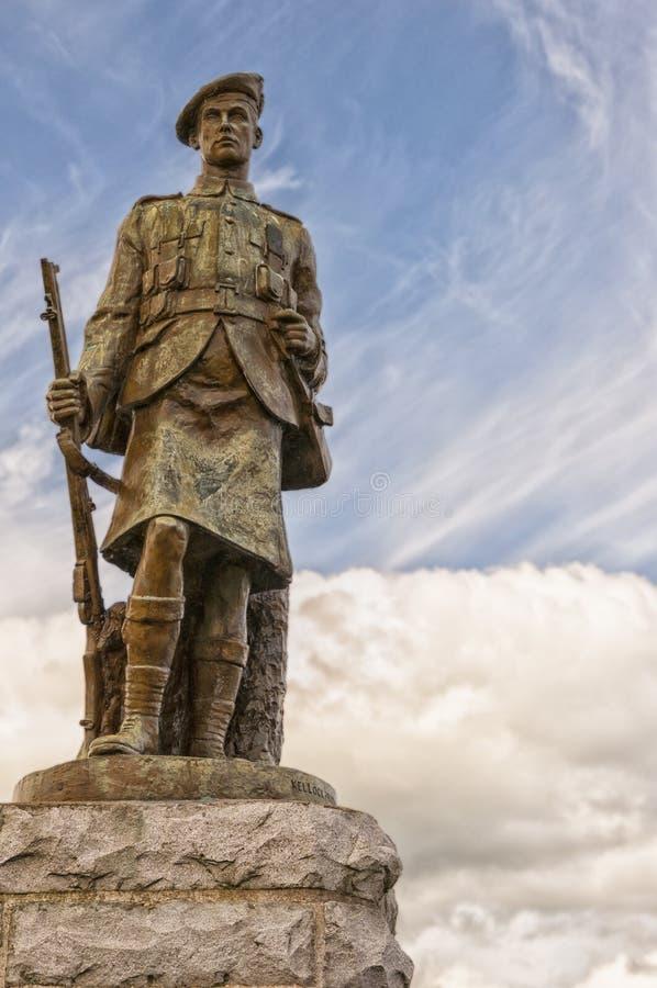 第一次世界大战纪念品在Inveraray 免版税图库摄影