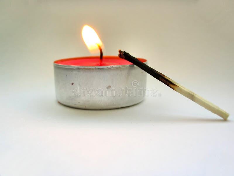 第一点燃的火柴 免版税库存图片