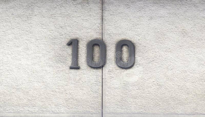 第一百在房子里 库存照片