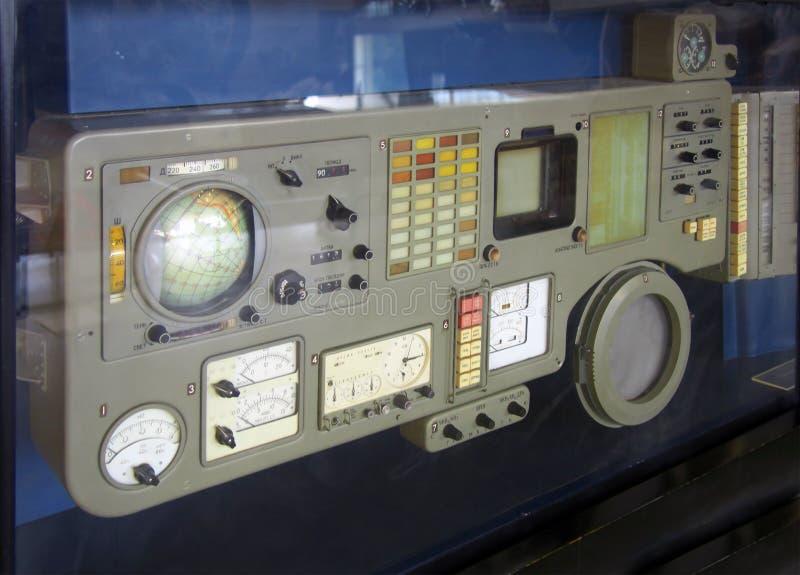 第一联盟号宇宙飞船的控制板 免版税库存照片