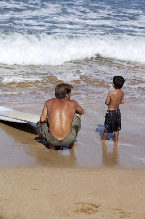 第一课程冲浪 免版税库存图片