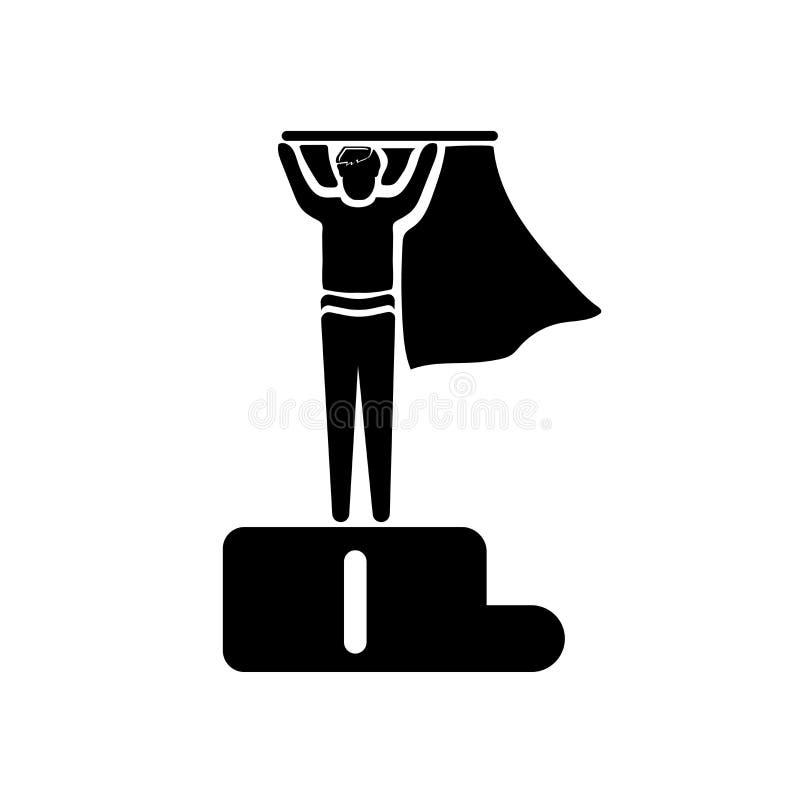 第一运动员在白色背景隔绝的象传染媒介,第一运动员标志,企业例证 向量例证