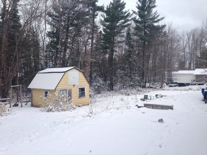 第一降雪 免版税库存图片