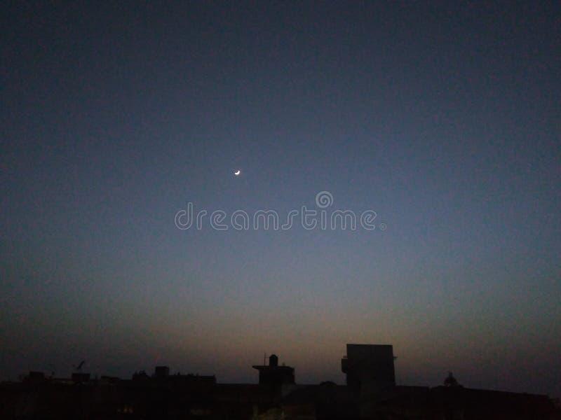 第一Roza夜美丽的景色  库存图片