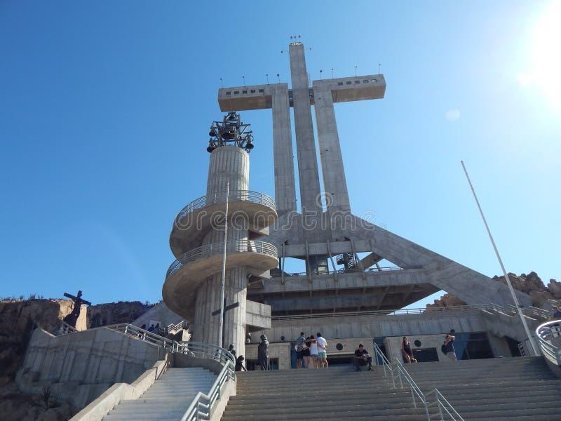 第三个千年十字,智利科金博 免版税库存图片