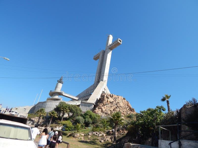 第三个千年十字,智利科金博 图库摄影