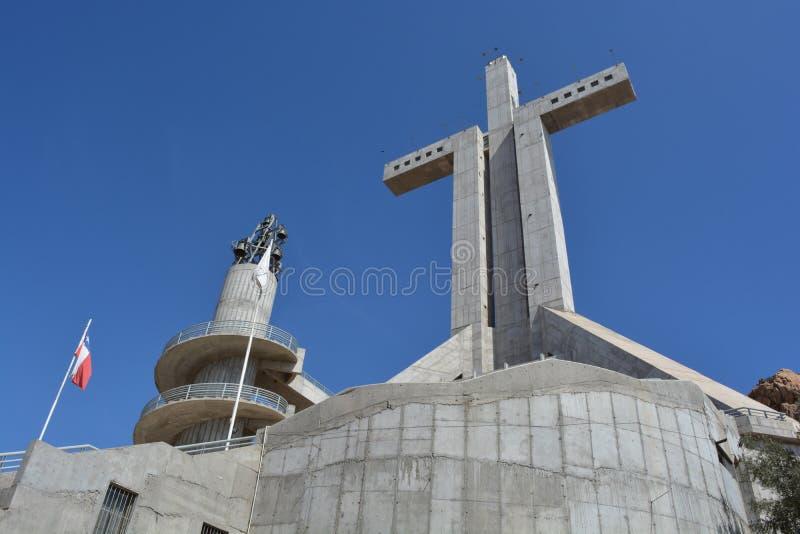 第三个千年十字架在科金博,智利 免版税库存照片
