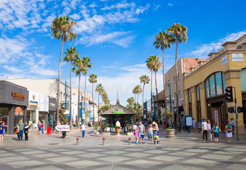 第三街道散步在圣莫尼卡加利福尼亚 免版税库存图片