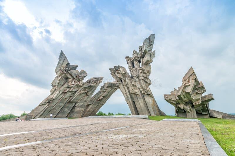 第九个堡垒,对法西斯主义的受害者,考纳斯- Lithuan的纪念碑 免版税库存照片
