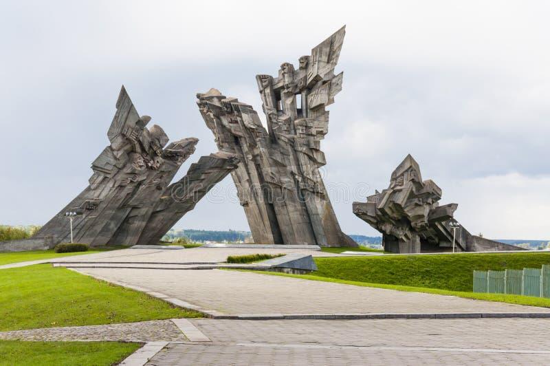 第九座堡垒纪念碑在考纳斯立陶宛 免版税图库摄影