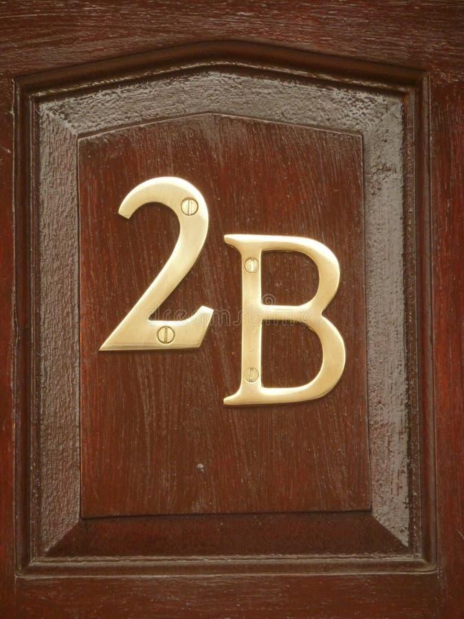 第二和信件B 免版税库存照片