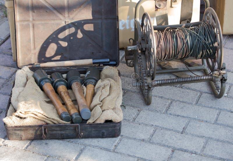 第二次世界大战炸药和手榴弹德语  免版税库存照片