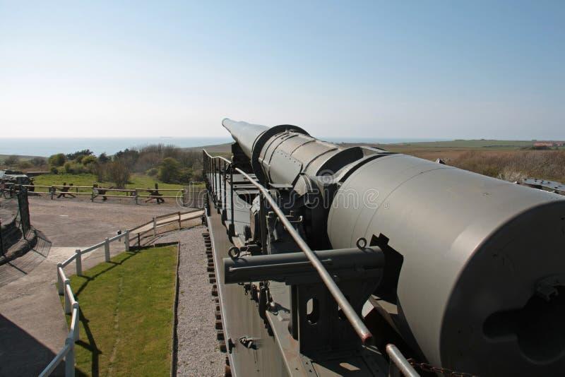 第二次世界大战的德国轨道枪  库存图片