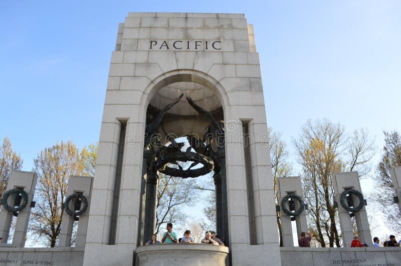 第二次世界大战纪念和平的柱子 免版税库存照片