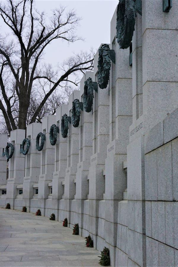 第二次世界大战纪念国家广场 库存照片