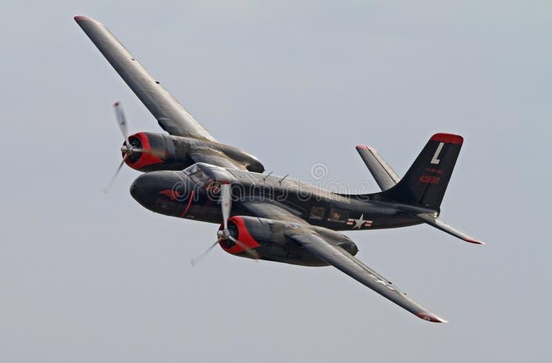 第二次世界大战A-26侵略者轰炸机 库存照片