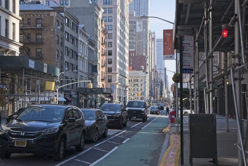 第五大道看起来的纽约北部 免版税库存照片