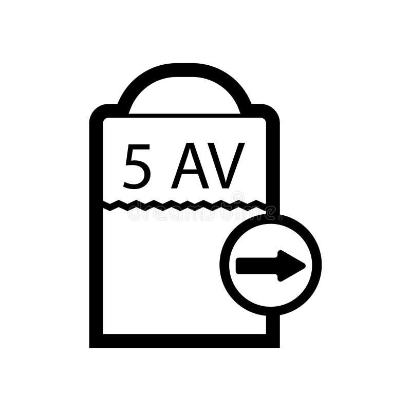 第五大道象在白色背景和标志隔绝的传染媒介标志,第五大道商标概念 向量例证