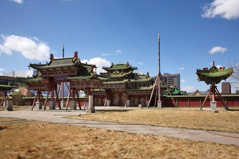 第八世哲布尊丹巴呼图克图冬宫在Ulaanbaatar 蒙古 图库摄影
