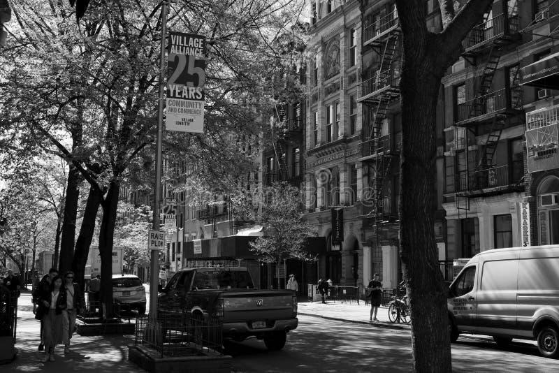 第八个街道圣马克的地方NYC -4 库存照片