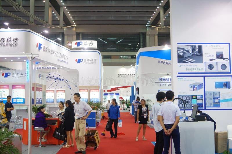 第十七中国国际光电子商展,举行在深圳大会和会展中心中 免版税库存照片