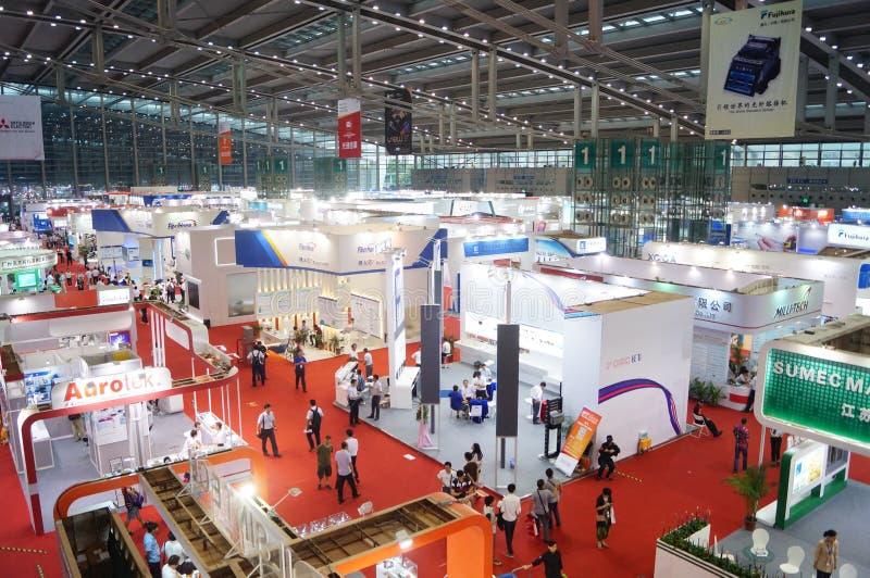 第十七中国国际光电子商展,举行在深圳大会和会展中心中 库存照片