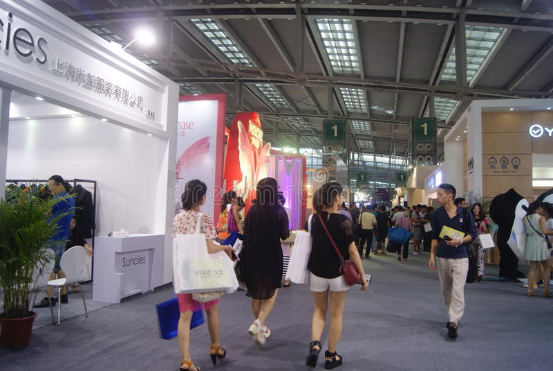 第十四中国(深圳)国际品牌衣物&辅助部件公平的风景 免版税图库摄影
