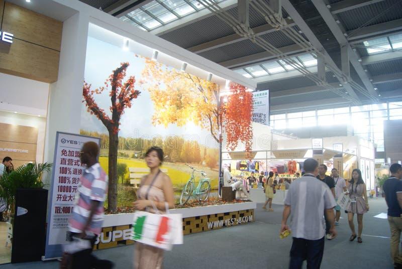 第十四中国(深圳)国际品牌衣物&辅助部件公平的风景 图库摄影