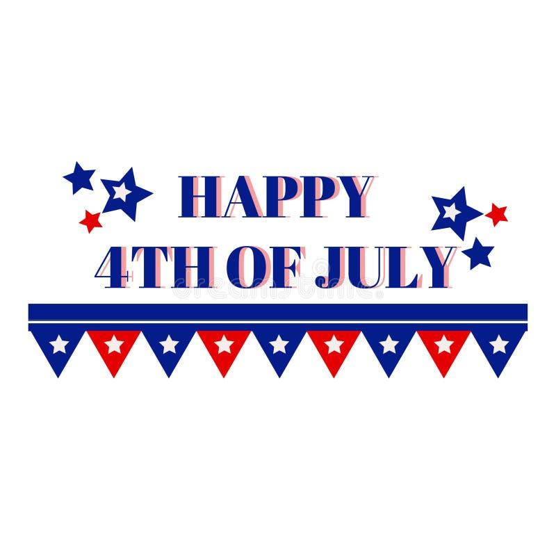 第四愉快的7月 美国独立日问候 皇族释放例证
