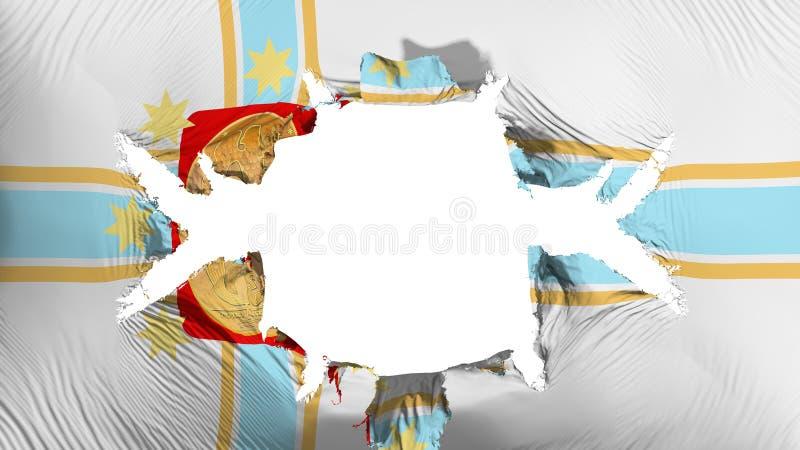 第比利斯与一个大孔的市旗子 库存例证