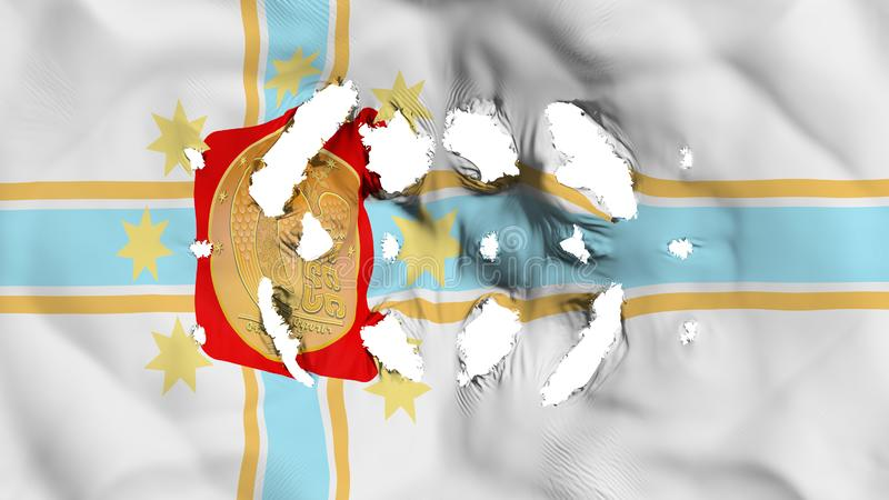 第比利斯与的市旗子小孔 库存例证