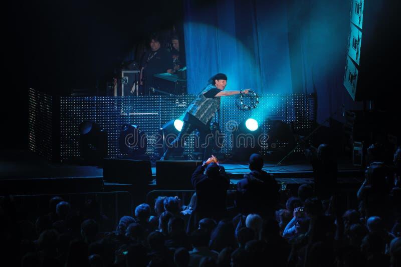 第聂伯罗彼得罗夫斯克,乌克兰- 2012年10月31日:蝎子摇滚乐队 库存图片