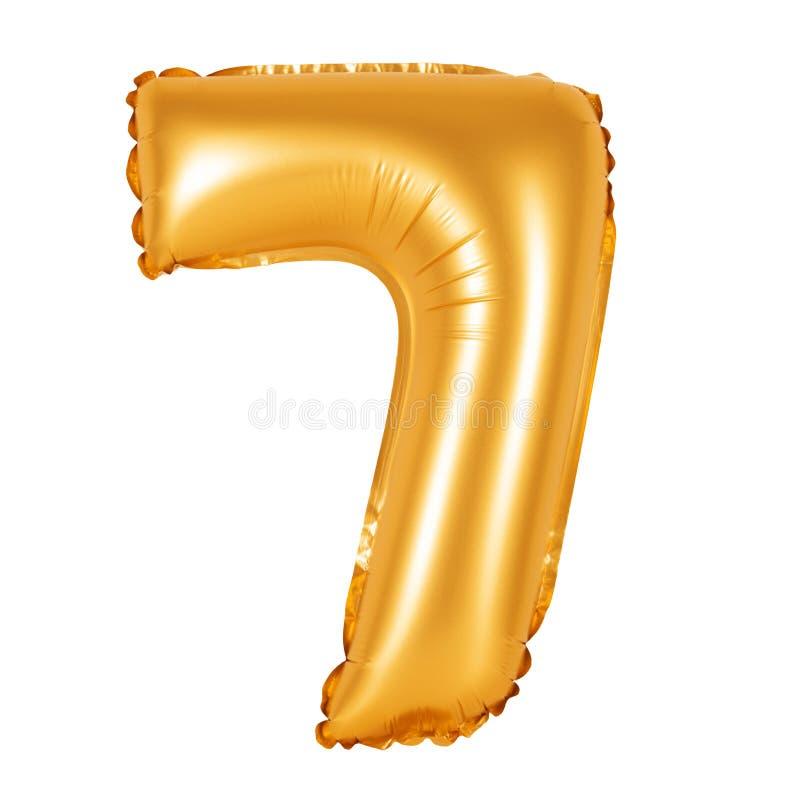 第7七从橙色的气球 库存照片